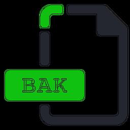Bak Colored Outline Icon