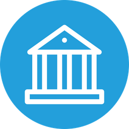 Bank, Mony, Income, Black, Economy, Finance Icon