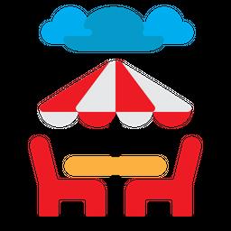 Beach Dinner Icon