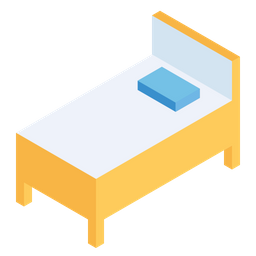 Bed, Bedroom, Interior, Furniture, Isometric, Wooden, Decor, 3d Icon