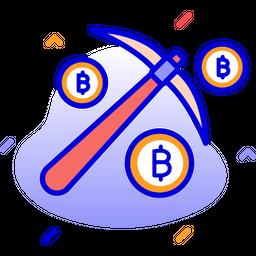 Bitcoin Mining Icon