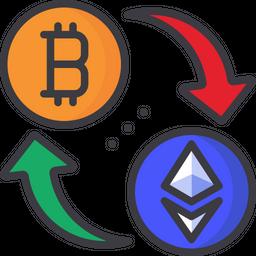 Bitcoin to etherium conversion Icon