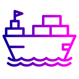 Boat, Logistic, Transportation, Deleivery, Vehicle, Ship, Container, Parcel Icon