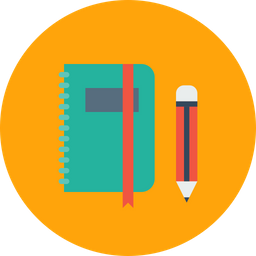 Book, Folder, Pen, Pencil, Notebook, Education, Log, Office Icon png