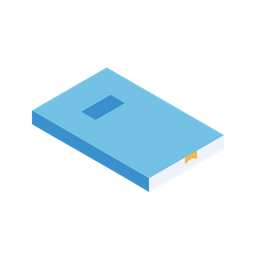 Book, Study, Education, Isometric, Grid, 3d Icon