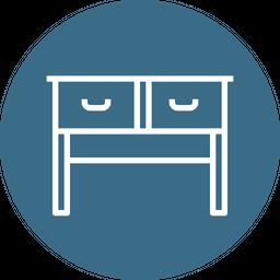 Books, Imitation, Drawer, Study, Table, Furniture, Furnishing, Household Icon