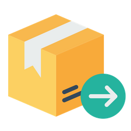Box, Package, Parcel, Logistic, Delivery, Export, Packed, Address Icon