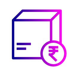 Box, Package, Parcel, Logistic, Delivery, Search, Find, Cash, On, Cod, Card, Rupee Icon