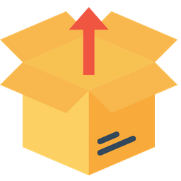 Box, Package, Parcel, Logistic, Delivery, Unpack, Open, Shipping, Export Icon