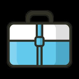 Briefcase Colored Outline Icon