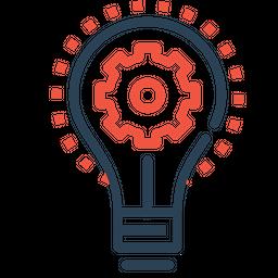 Bulb, Idea, Imagination, Light, Innovation, Setting, Gear Icon