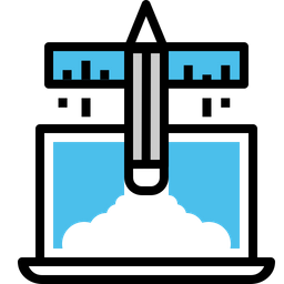 Business, Boosting, Startup, Launching, Pad, Laptop Icon
