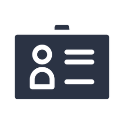 Business Card Glyph Icon