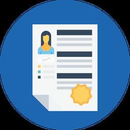 Business, Employee, Resume, Recruitment, Badge, Star, Appraisal Icon