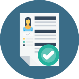 Business, Employee, Woman, Resume, Recruitment, Success, Selected Icon