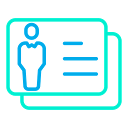 Business Identity Card Line Icon