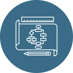 Business, Tactics, Flow, Of, Operations, Chart Icon