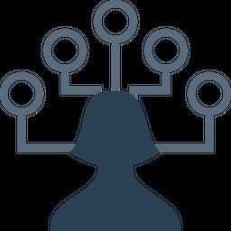 Businessman, Connection, Network, Nodes, Team, Hierarchy, Structure Icon