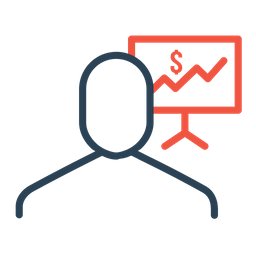 Businessman, Employee, Statics, Analysis, Graph, Dollar, Finance Icon