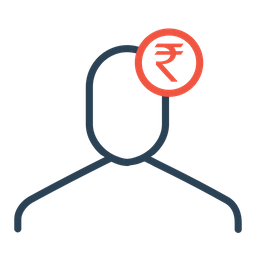 Businessman, Finance, Money, Indian, Rupee, Currency, User Icon