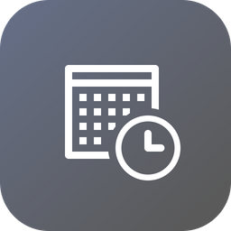 Calender, Date, Day, Time, Clock, Schedule, Event Icon