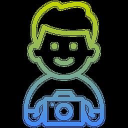 Cameraman Gradient Icon