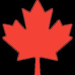 Canadian Maple Leaf Flat Icon