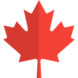 Canadian Maple Leaf Flat  Logo Icon