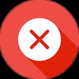 Cancel, Close, Delete, Exit, Discard, Dismiss, Remove Icon