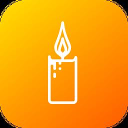 Candle, Flame, Decoration, Light, Christmas, Xmas Icon