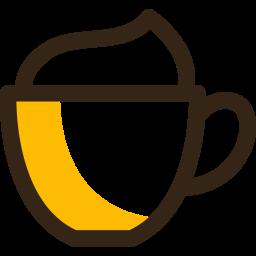 Cappuccino Colored Outline Icon