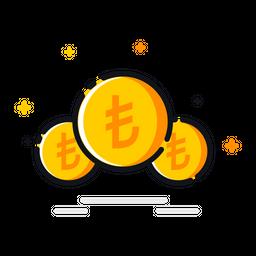 Cash, Coin, Currency, Lira, Money, Price, Turkey Icon