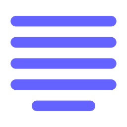Center-alignment Icon