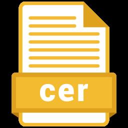 Cer file Icon