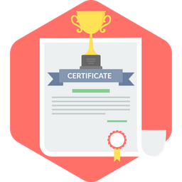 Certificate Icon of Flat style - Available in SVG, PNG, EPS, AI ...