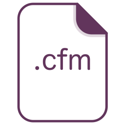 Cfm, File, Document, Extension, Filetype Icon