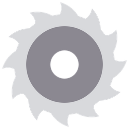 Chain saw wheel Icon