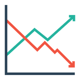 Chart, Company, Business, Finance, Report, Statics, Analysis, Growth Icon