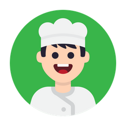 Chef Icon of Flat style - Available in SVG, PNG, EPS, AI & Icon fonts