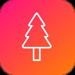 Christmas, Tree, Xmas, Fir, Newyear, Holiday, Star Icon