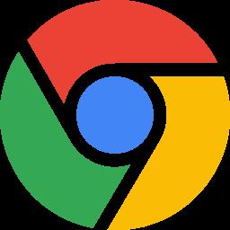 Chrome Flat  Logo Icon