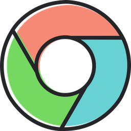 Chrome Colored Outline Icon