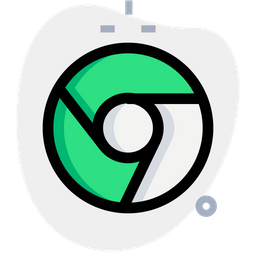 Chrome Colored Outline  Logo Icon