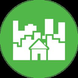 City Glyph Icon