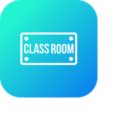 Class, Room, Board, School, Nameplate, Plate, Study Icon