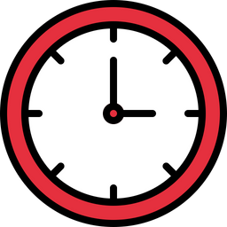Free Clock Icon of Colored Outline style - Available in SVG, PNG, EPS, AI & Icon fonts