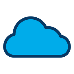 Cloud Icon - Download in Colored Outline Style