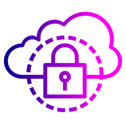 Cloud, Data, Optimization, Secure, Lock, Safe, Protected Icon