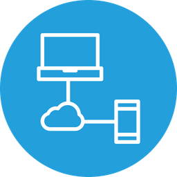 Cloud, Data, Sharing, Laptop, Mobile, Online, Storage Icon