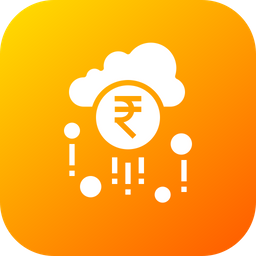 Cloud, Earning, Fortune, Money, Raining, Success, Wealth Icon